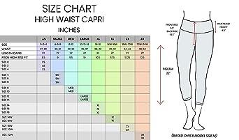 "90 Degree By Reflex High Waist Squat Proof Tummy Control 22"" Interlink Capris"