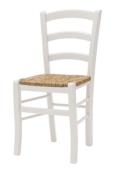 Sedie Rustiche In Legno.White Loft Set Di 2 Sedie Legno Bianco 43x42x88 Cm Amazon It