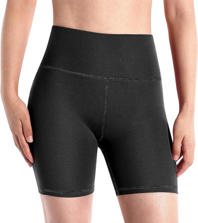 Control de Barriga con Bolsillo Oculto Pantalones Cortos de compresi/ón para Correr no Transparente Promover Pantalones Cortos de Yoga Cintura Alta para Mujer