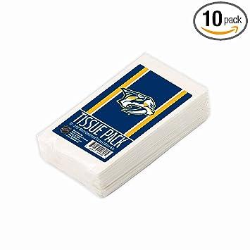 Worthy Promo NHL Nashville Predators Tissue Packs 10-Pack, 100 Tissues. 3-