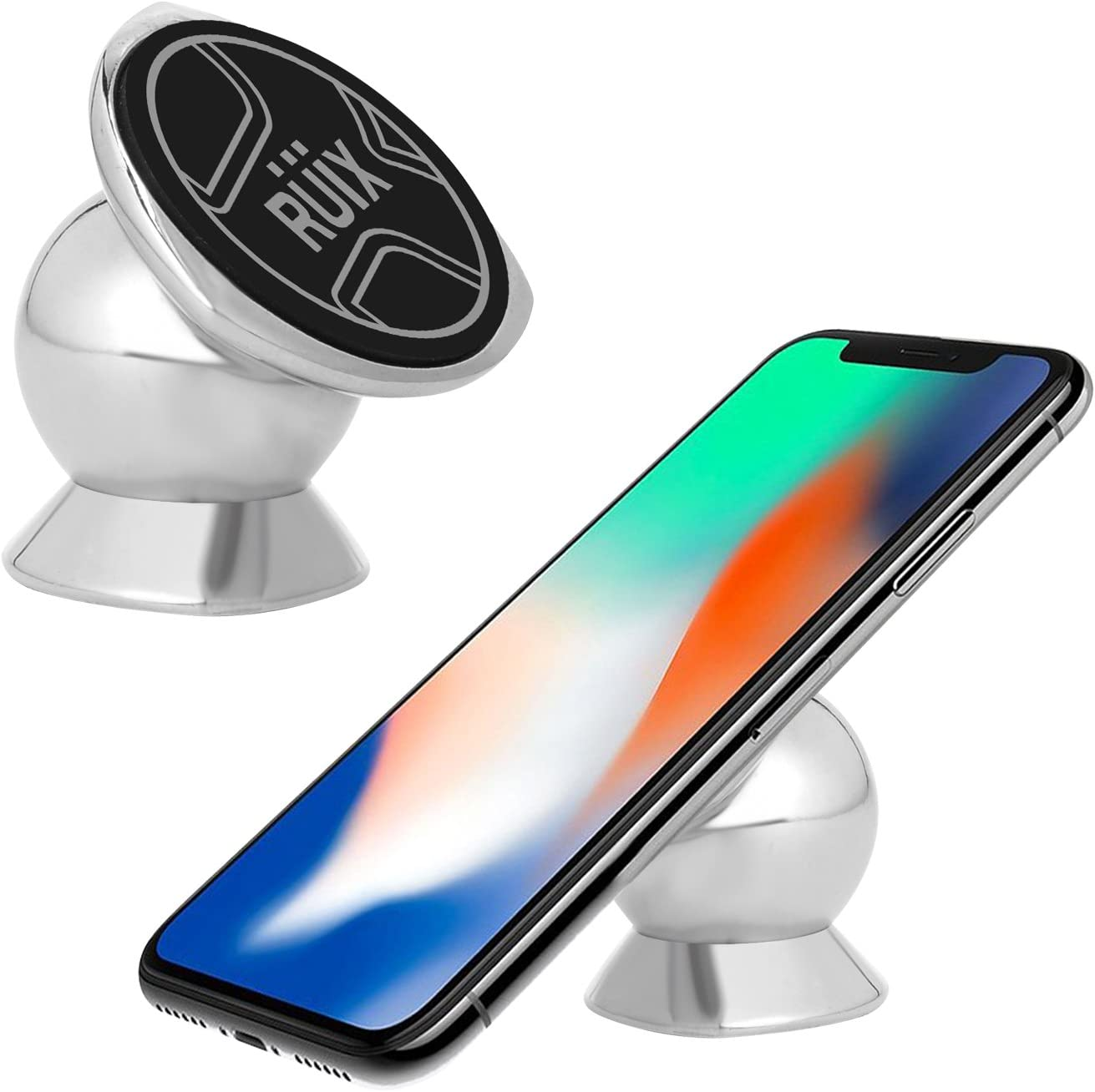 Samsung Metal Mobile Phone Holder for Car Dashboard Mount Compatible for iPhone Android Smartphones. Cellet Universal 360 Rotation Magnetic Car Phone Holder Stand