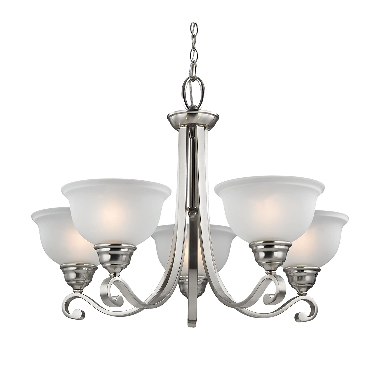 Cornerstone lighting 2305ch 20 thomas lighting hamilton 5 light chandelier 29 x 29 x 21 brushed nickel amazon com