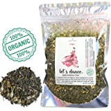 Modest Earth Let's Dance Tea   100% ORGANIC Natural Aphrodisiac Herbal Remedy   DAMIANA Couple's Love Drink   ROMANTIC Date Night, Anniversary, Birthday Gift for Him/Her   48+ SERVINGS (2.46 OZ)