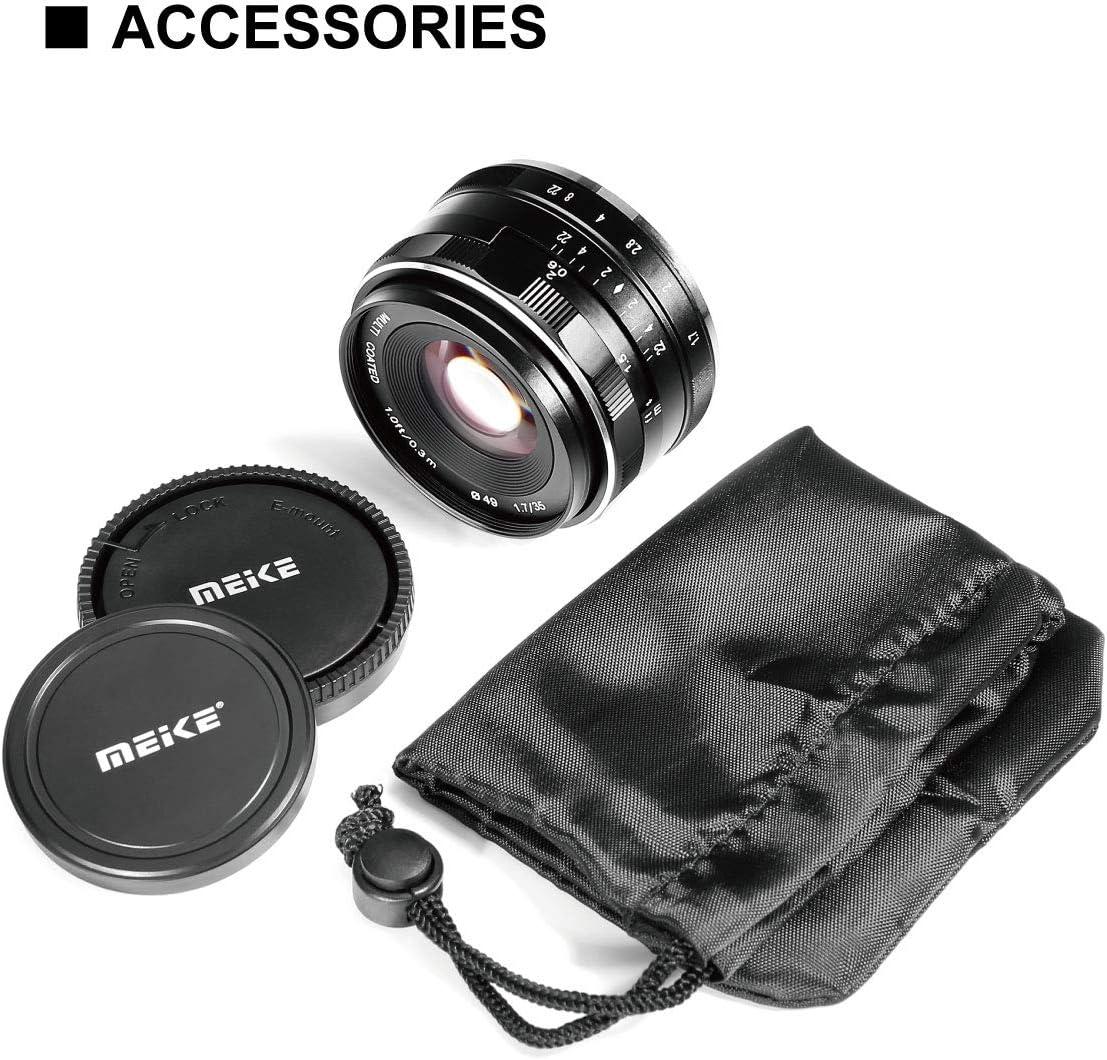 MEKE 35mm f1.7 Large Aperture Manual Focus APS-C Lens for Canon ...