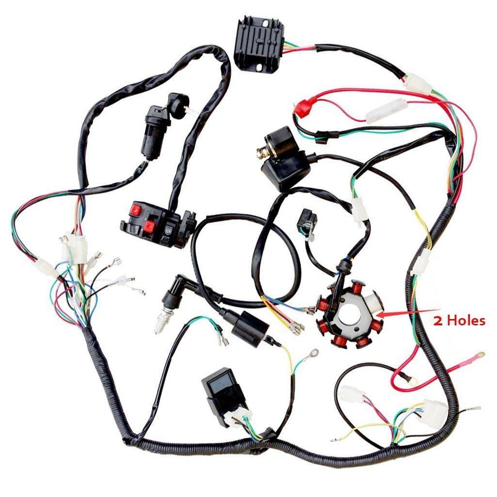 amazon zxtdr wiring harness kit wire loom plete electrics X19 Super Pocket Bike Wiring Diagram amazon zxtdr wiring harness kit wire loom plete electrics stator coil cdi for 150cc 300cc atv quad 4 four wheelers go kart dirt pit bikes 2