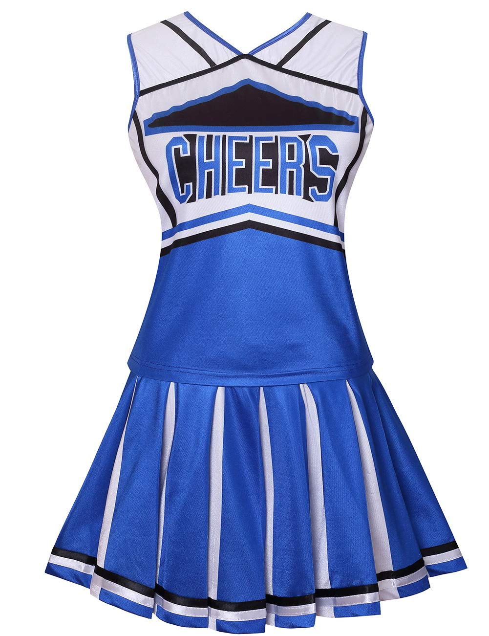 Colorful House Womens Cheerleader Costume Uniform Fancy Dress (Size L, Blue) by Colorful House (Image #1)