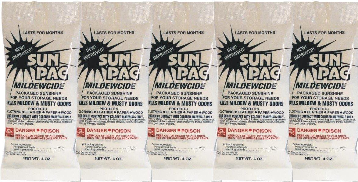 SunPac Mildewcide, Mold Inhibitor, Mildew Killer (Pack of 5)
