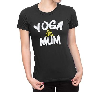 Buzz Shirts De Las Mujeres Yoga Mamá Camiseta: Amazon.es ...