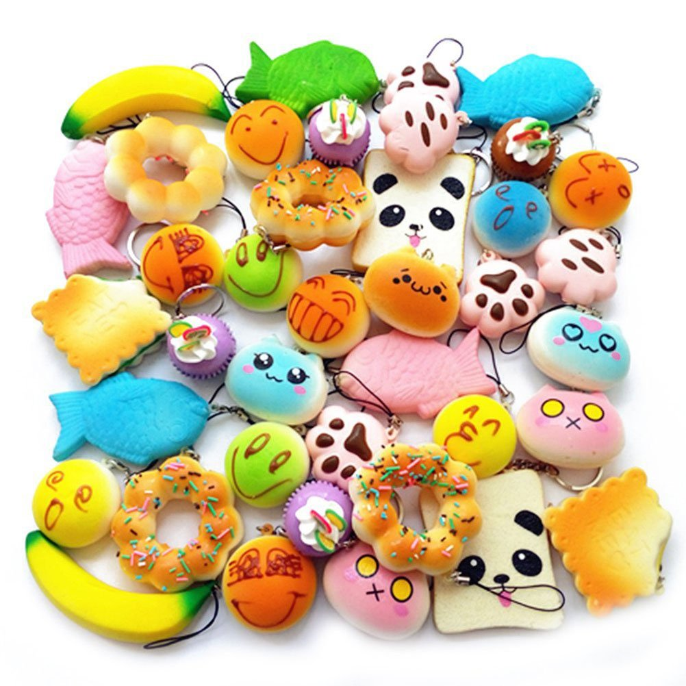 Silly Squishies Squishy Collection : My daughter  s little squishy collection! She loves these things! They are very slow rising and ...