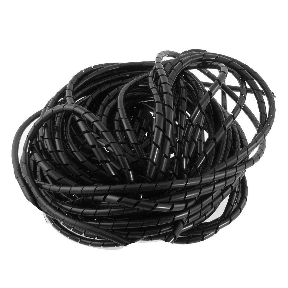 21M 68 pi PE Polyethylene protection de Cable electrique 6mm de Dia Tube Tube spiral R TOOGOO