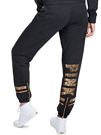 66c137f3a5ccf Amazon.com: Victoria's Secret Pink Women's Bling Classic Pant Pant Ankle  Zip Dark Gray X-Small: Clothing