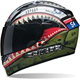Bell Qualifier DLX Unisex-Adult Full Face Street Helmet (Devil May Care Matte, Large) (D.O.T.-Certified)