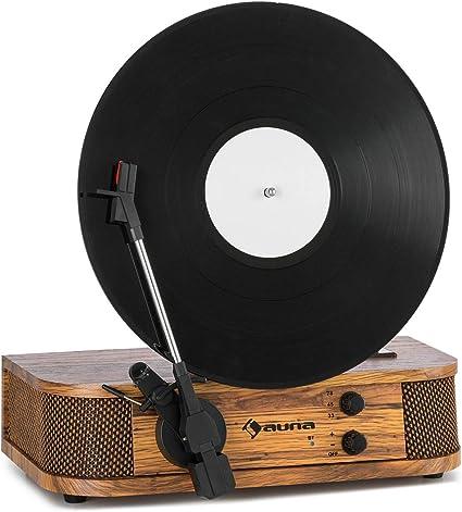 auna Verticalo SE Tocadiscos Retro - Tocadiscos Vertical ...