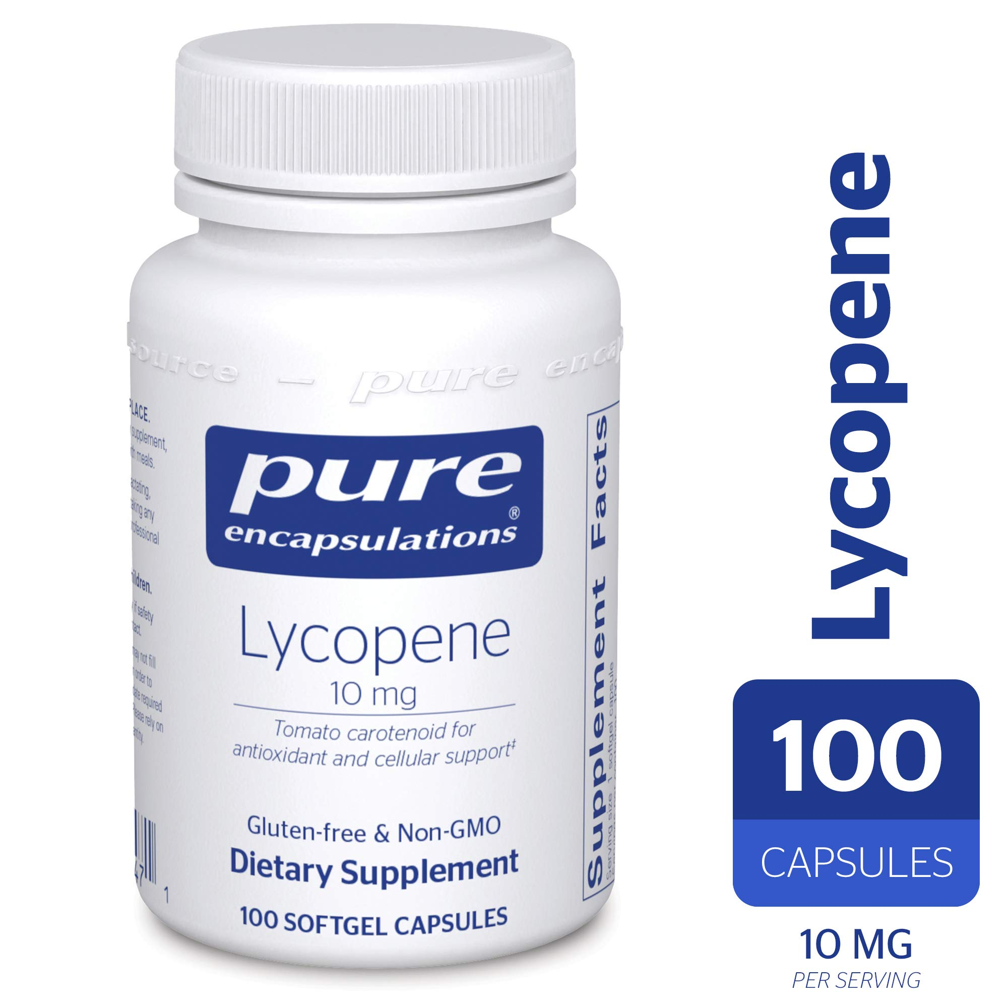 Pure Encapsulations - Lycopene 10 mg - Dietary Supplement for Prostate, Cellular and Macular Support* - 100 Softgel Capsules by Pure Encapsulations