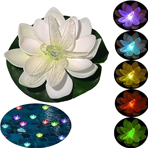 Floating-Pool-Lights,Battery-Operated-Floating-Flowers,-Pond-Decor