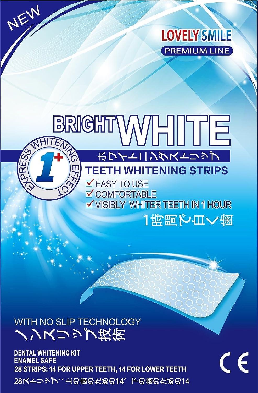 28歯のホワイトニングストリップ - プロフェッショナル品質 - 28 Teeth Whitening Strips NEW Non-Slip Tech | Lovely Smile Premium Line Professional Quality - Teeth Whitening Kit - Tooth Whitening - Express Whitening - Whiter Teeth