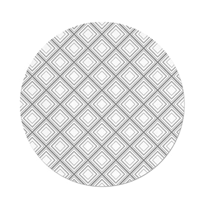 Amazon Com Polyester Round Tableclothgeometric Decorminimalist