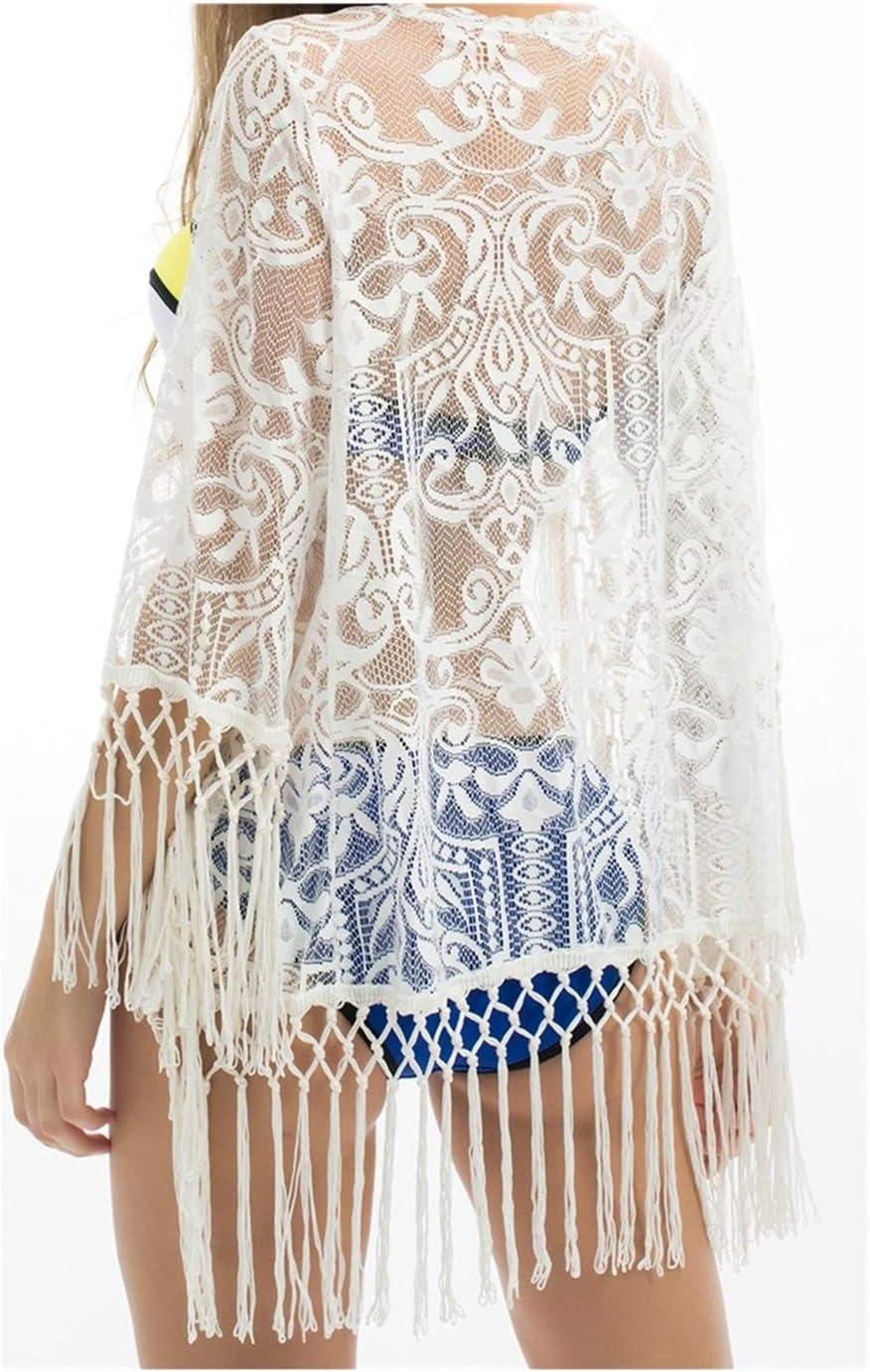 Trajes de baño Ganchillo de la borla de las mujeres blancas del cordón atractivo de baño bikini cubierta encima de la mujer de la playa vestido traje de baño traje de baño de la playa de encubrir De p
