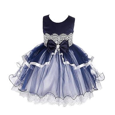 c9b7ba77a Amazon.com  Dressy Daisy Baby-Girls  Tiered Floral Lace Diamond ...