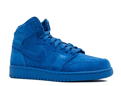 best website 0a789 c04b4 Jordan Retro 1 High Blue Suede Team Royal/Team Royal (Big Kid) (6)
