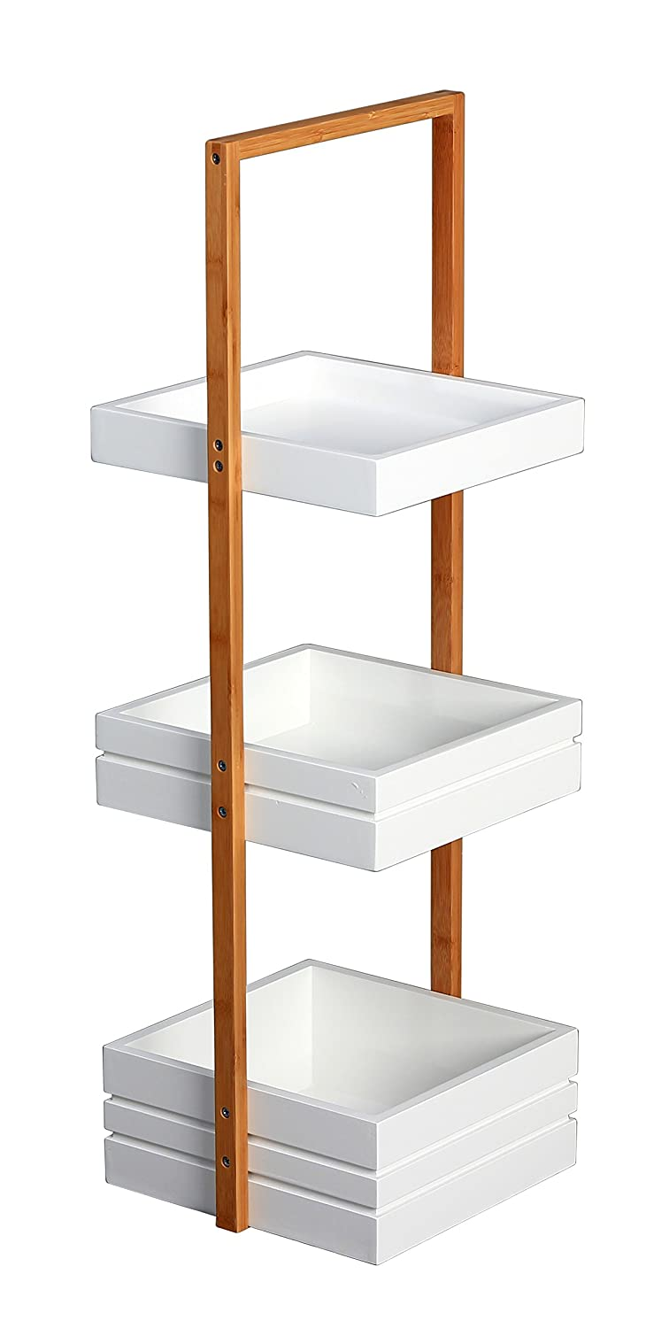 Bambus 3 Tier Bathroom Free Standing Shower Caddy Tidy Organiser ...