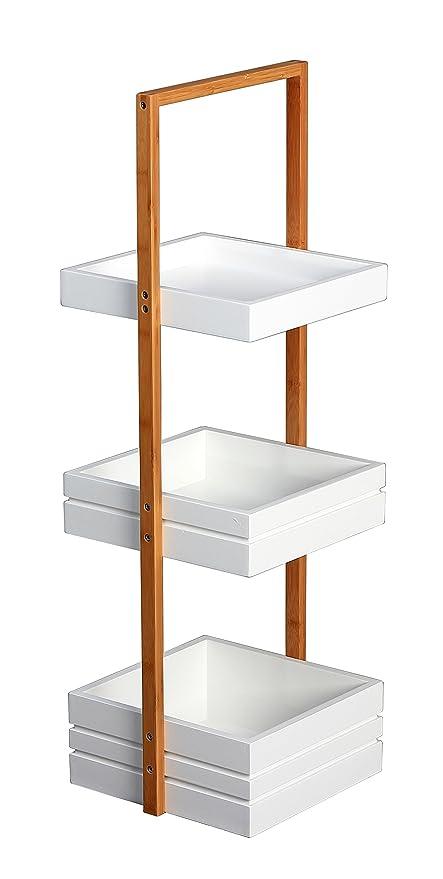 Bambus 3 Tier Bathroom Free Standing Shower Caddy Tidy Organiser ...
