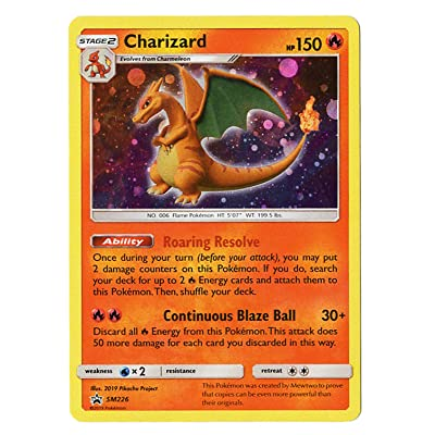 Charizard SM226 - Black Star Promo - Exclusive Mewtwo Strikes Back Exclusive - Collectors Chest Holo Card: Toys & Games