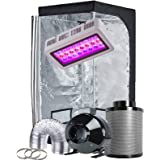 "TopoGrow LED Grow Tent Complete Kit LED 300W LED Grow Light Kit +32""X32""X63"" Indoor Grow Tent + 4"" Fan&Filter&Ducting Combo H"