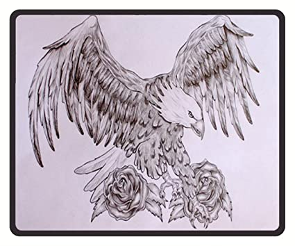 Amazoncom Mouse Mat Eagle Tattoo Designs Drawings Mouse