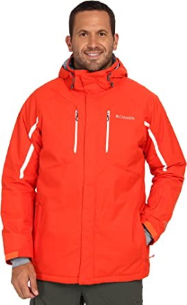 Columbia Men s Cubist  IV Jacket - Extended State Outerwear 1X Orange White ff03915921