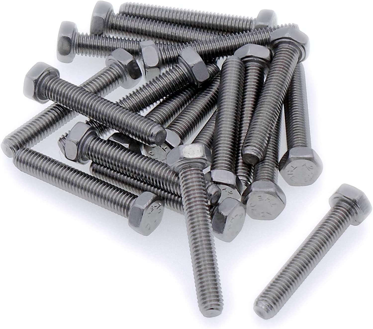 Fully Threaded Setscrew - Stainless Steel A2 Hex Bolt M3 3mm x 16mm Pack of 20