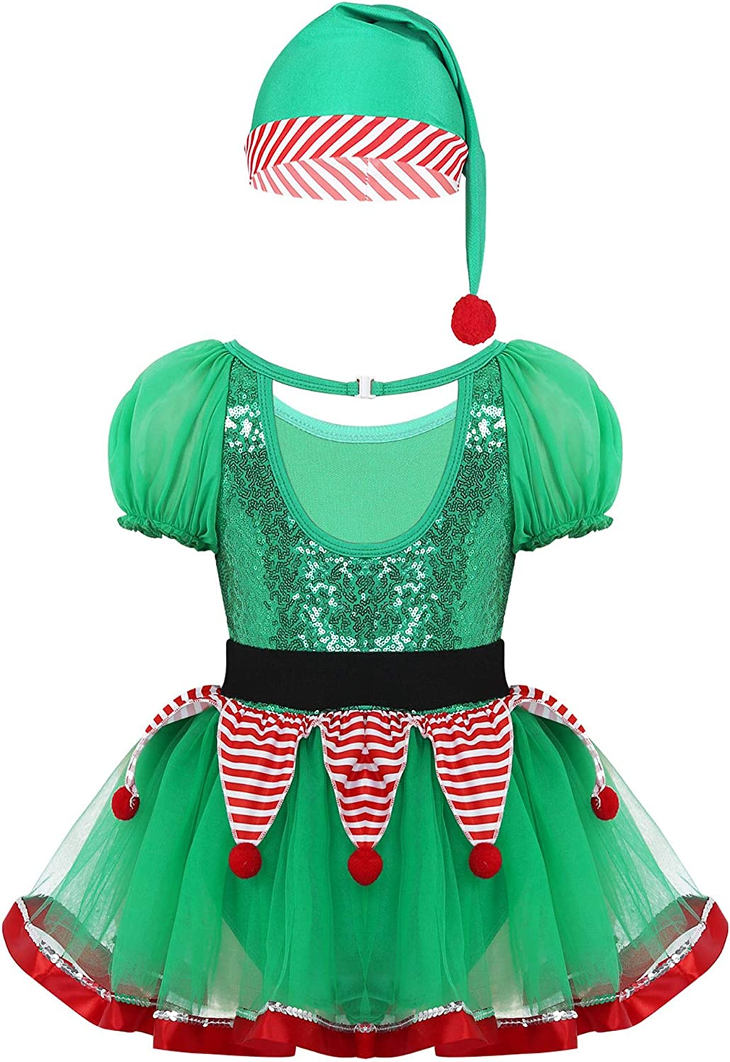 Sequin Elf Waistcoat Red Green Christmas Mens Fancy Dress Xmas Outfit