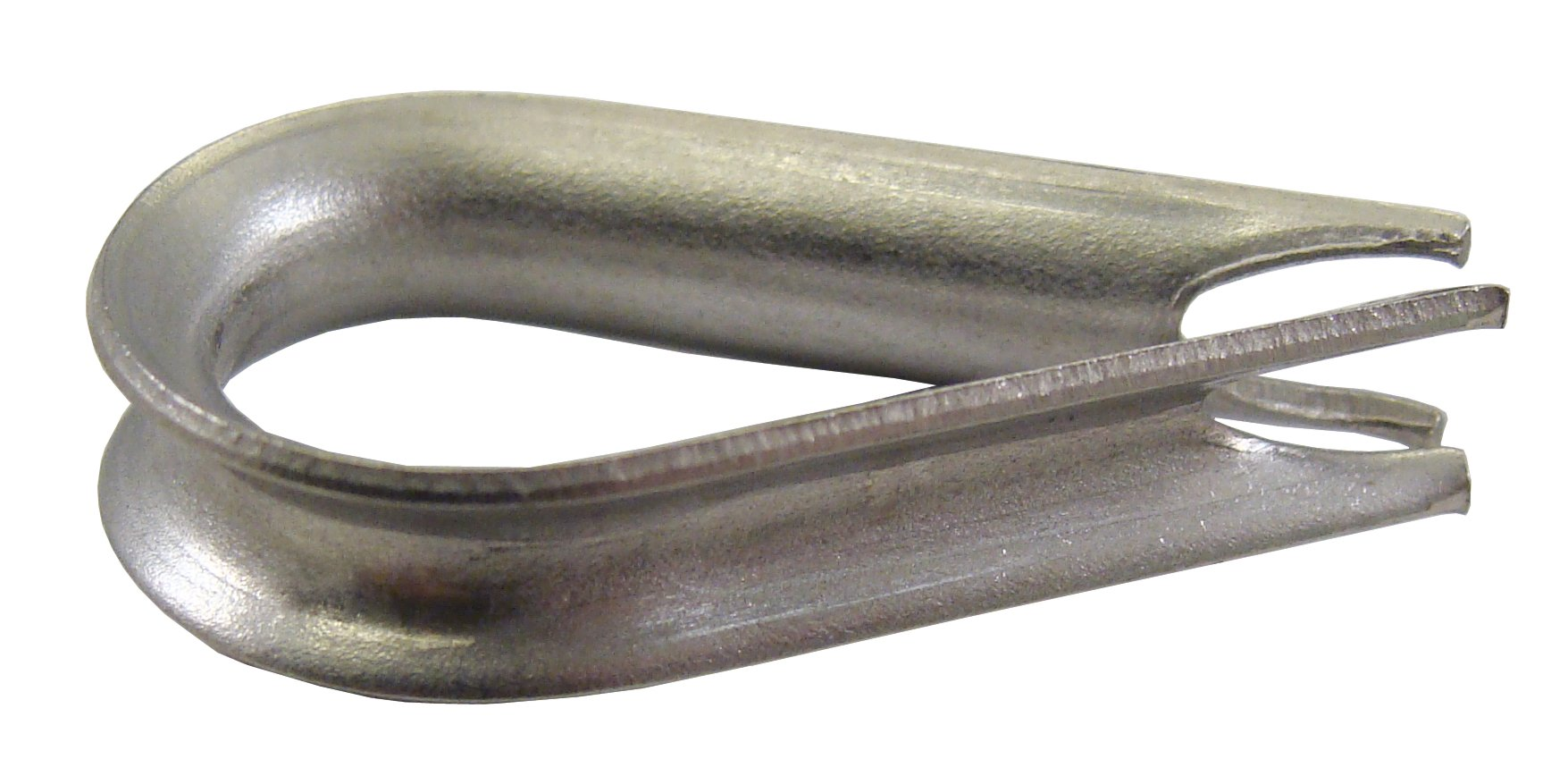"""Loos Cableware AN100-C4 Stainless Steel Thimble for 3/32"""" and 1/8"""" Diameter Wire Rope"""