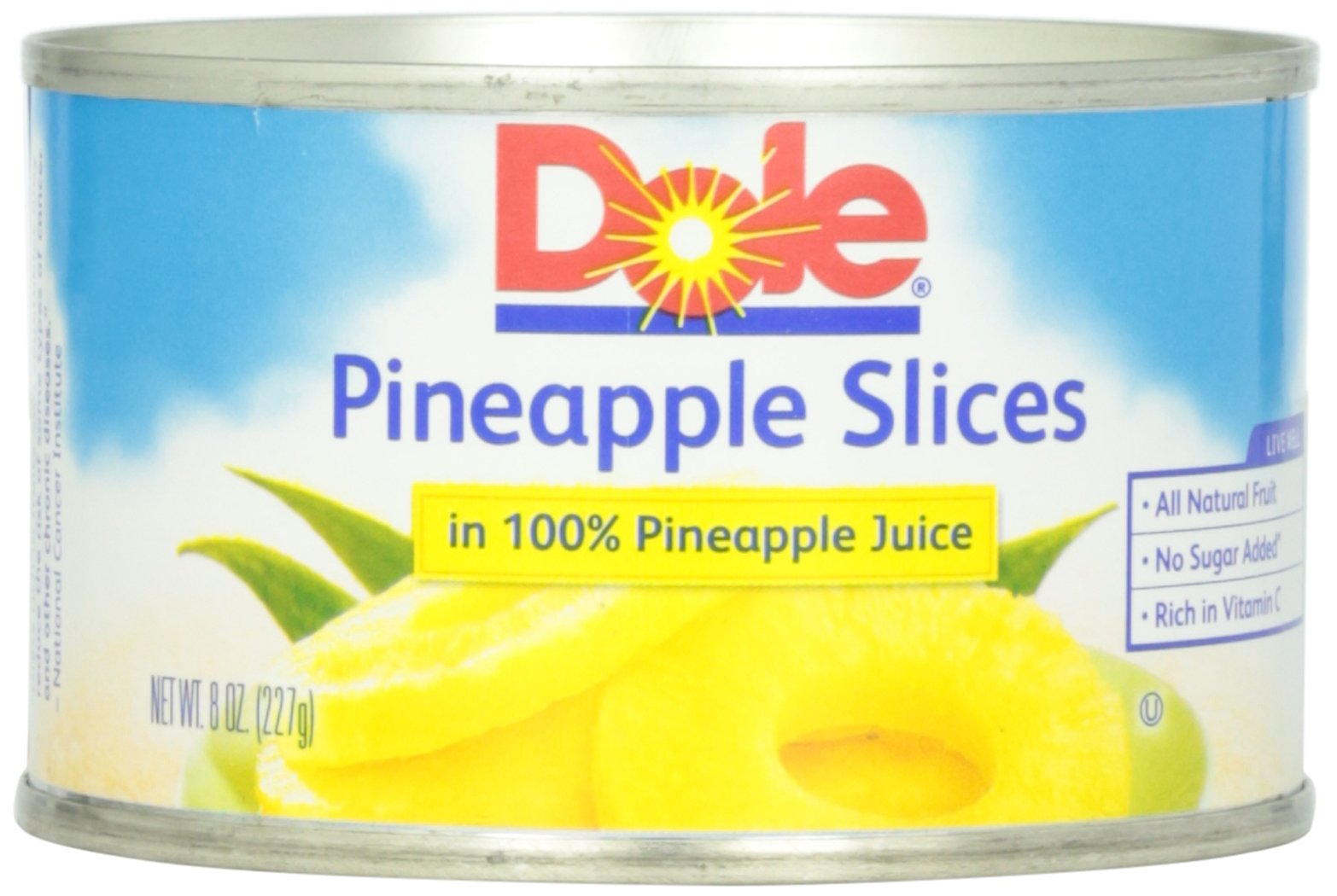 Dole Pineapple Slices in Juice, 8-Ounce Cans (Pack of 24) by Dole