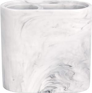 SKL Home by Saturday Knight Ltd. Marble Swirl Toothbrush Holder, White