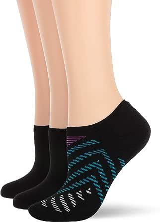 HUE womens U20304 Low Cut No Show Liner Sport Socks With Cushion, 3 Pair Pack Liner Socks