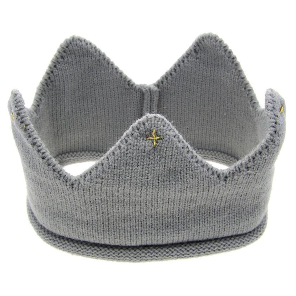 BIBITIME Creative Funny King Queen Knit Crown Headband Headgear Beanie Hat Cap Blue Style 1) 1915