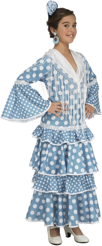 My Other Me Me-202949 Disfraz de flamenca Huelva para niña, color turquesa, 7-9 años (Viving Costumes 202949)
