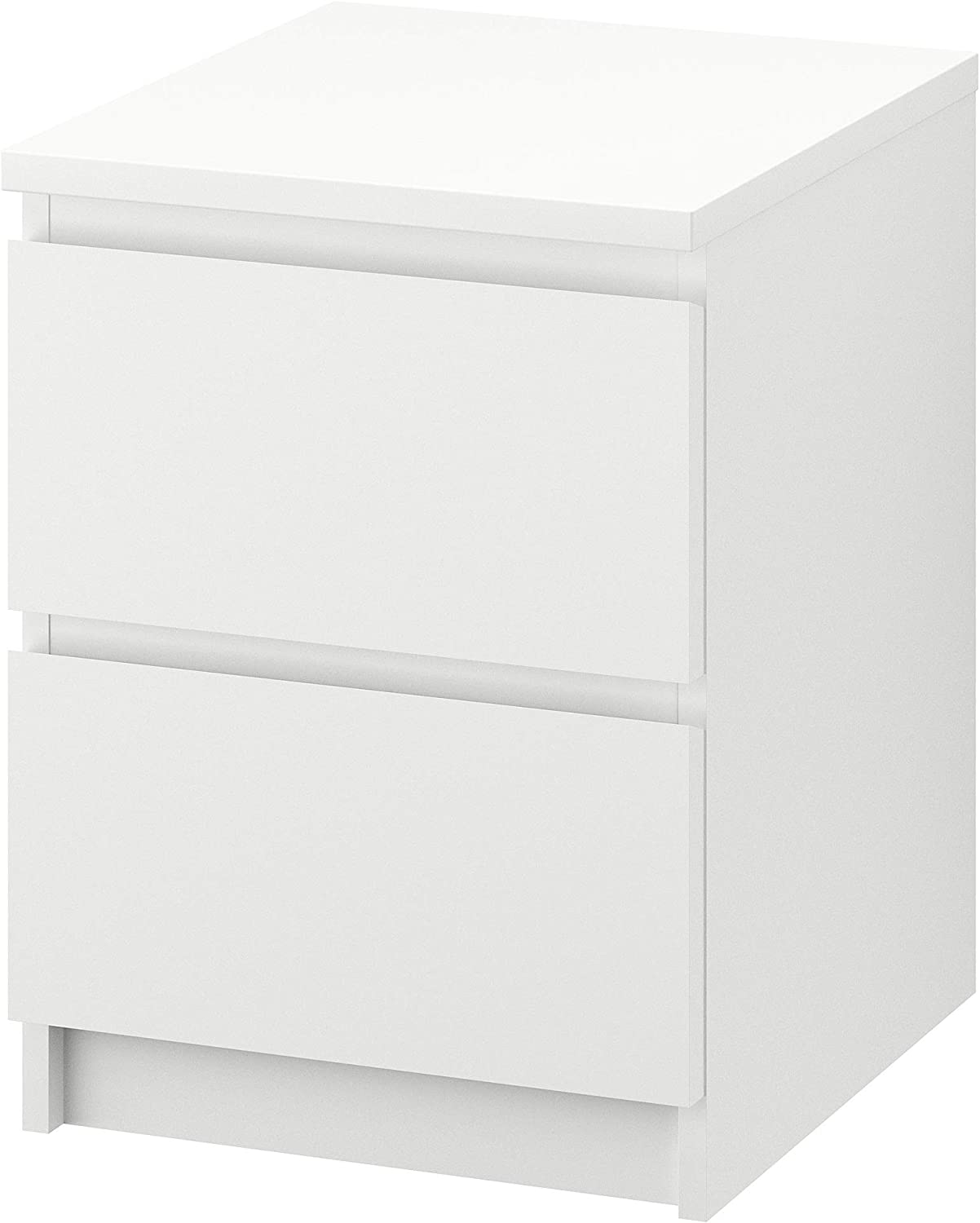 8. IKEA Two Drawers White Night Table