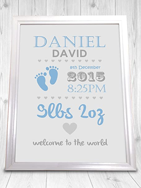 Christening personalised print boy and girl perfect gift new christening personalised print boy and girl perfect gift new baby present unframed negle Image collections