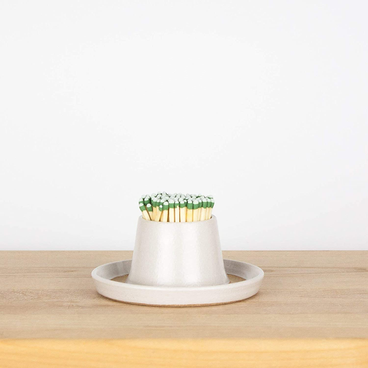 White Match Striker by Barombi Studios | Ceramic Match Holder