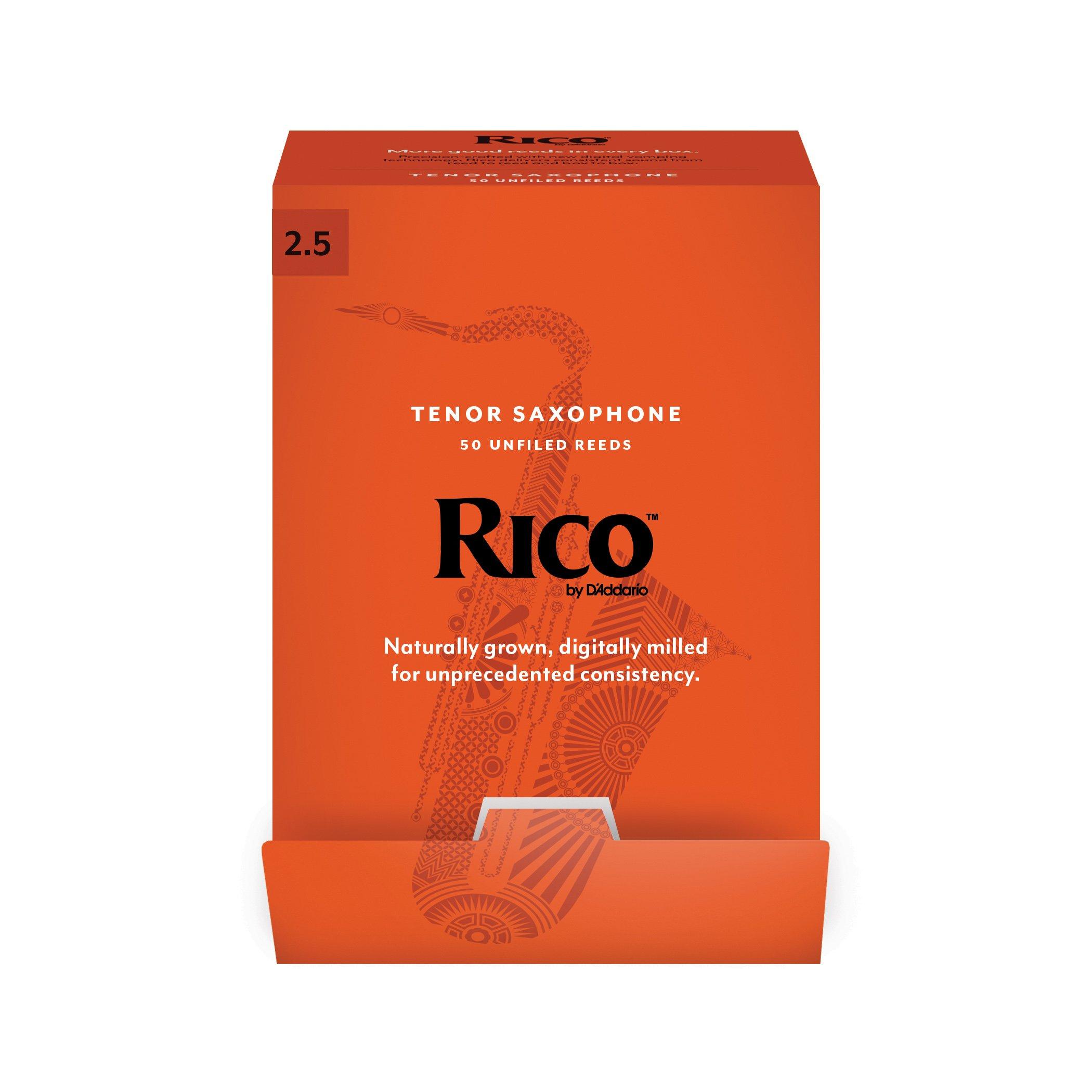 Rico 50 Reed Bulk Packs - Tenor Sax (2.5)