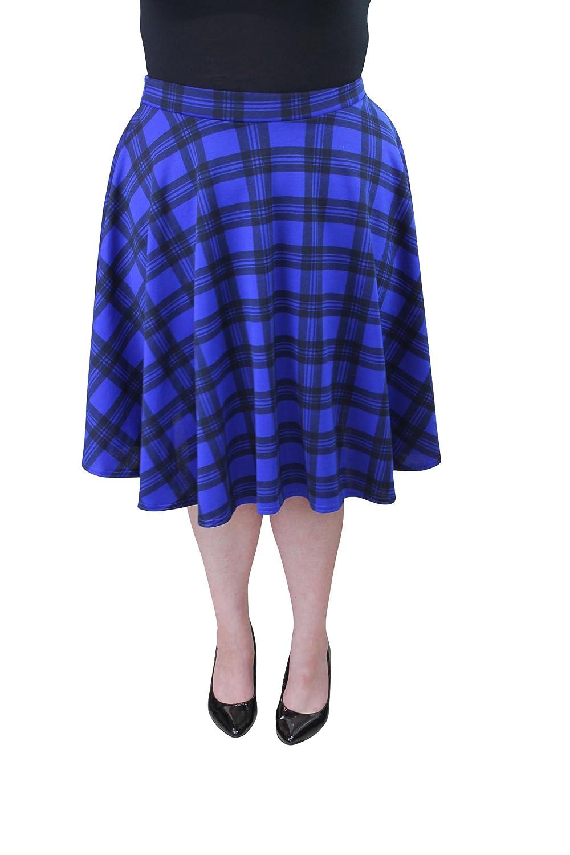 Girl Talk Clothing Plus Size Tartan Skater Skirt