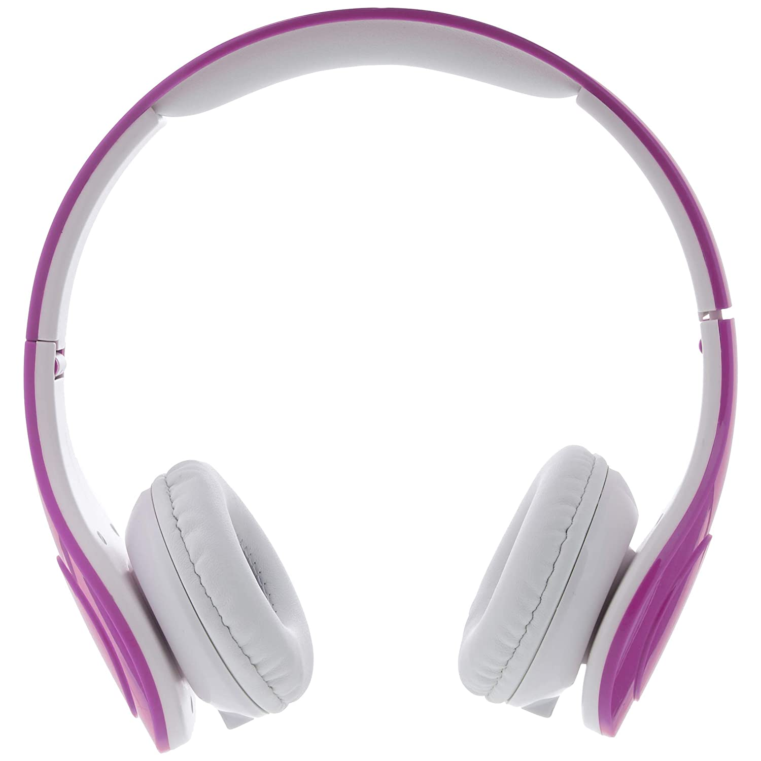 Purple Basics Volume Limited Wired Over-Ear Headphones for Kids with Two Ports for Sharing