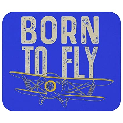 Amazon.com : Born to Fly Cool Quirky Funny Aviation Gift Ideas for Airplane Pilots Mouse Pad : Office Products