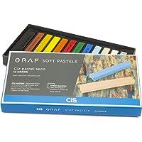 Giz Pastel Seco Graf Soft, CIS, Caixa c/12 cores tradicionais sortidas
