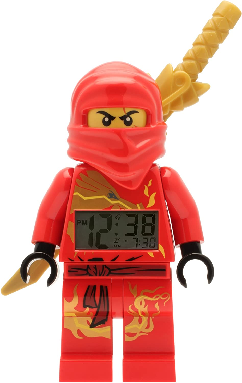 LEGO Ninjago Kai – 20 Alarm Clock Digital Grey: Amazon.de: Uhren