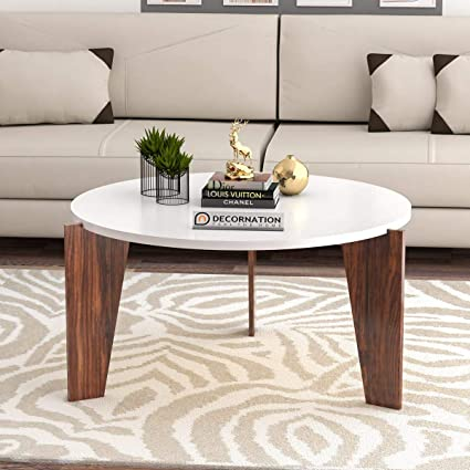Decornation Aurora Wooden Coffee Table Cocktail Table Center Table For Living Room Bedroom White Finish Amazon In Electronics