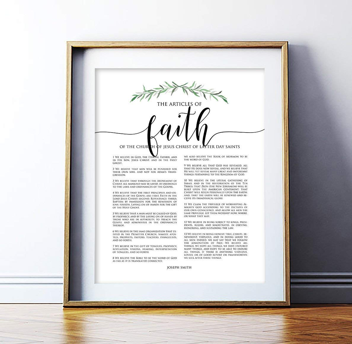 image relating to 13 Articles of Faith Printable referred to as : MalertaART LDS Posts of Religion Print LDS Decor