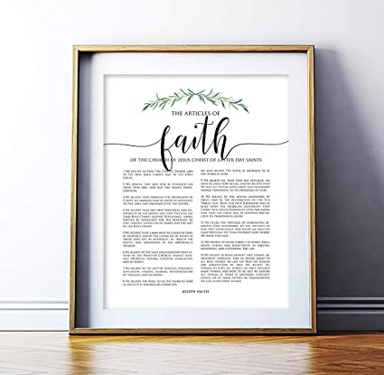photo relating to Articles of Faith Printable known as : MalertaART LDS Posts of Religion Print LDS Decor